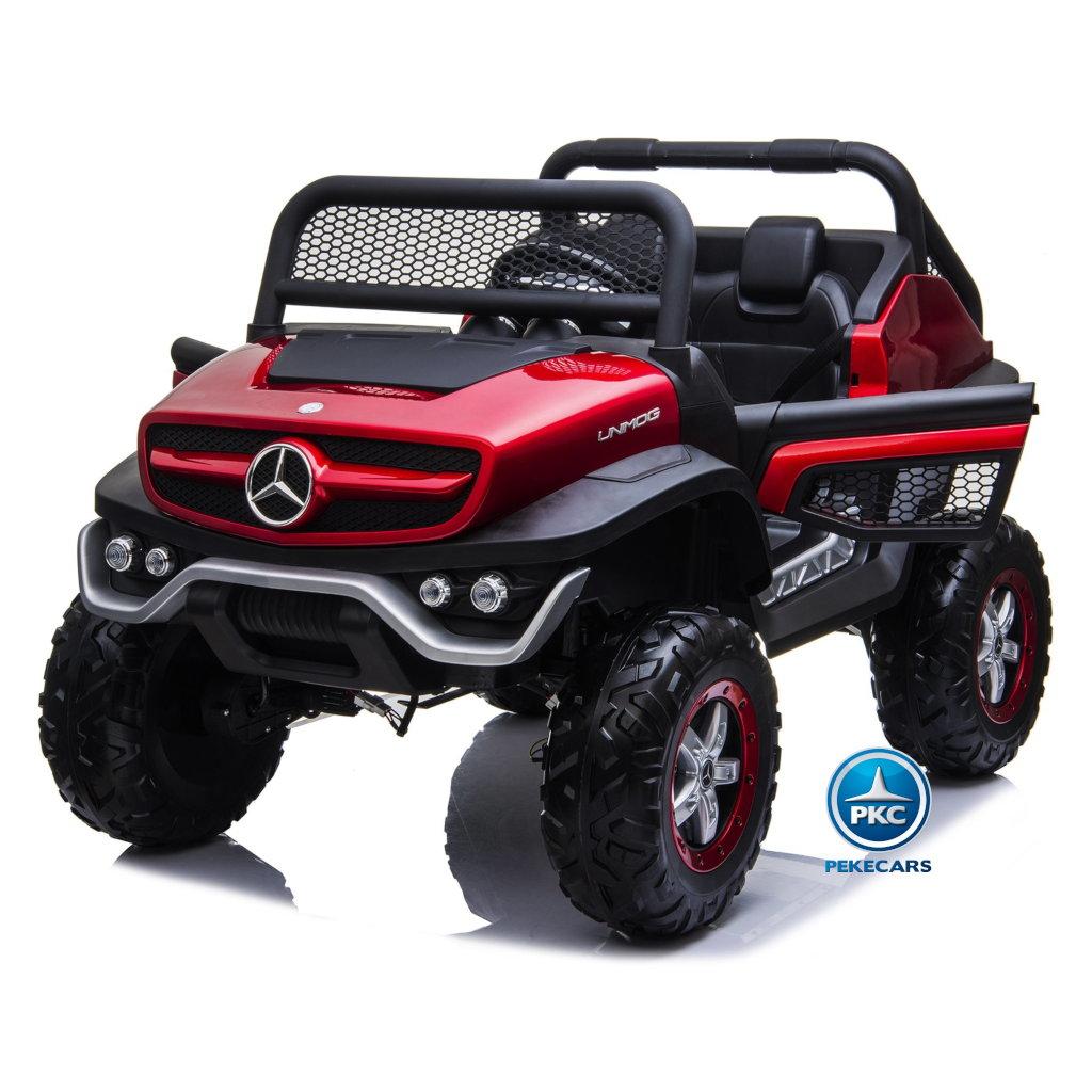 Todoterreno Mercedes Unimog Rojo Metalizado
