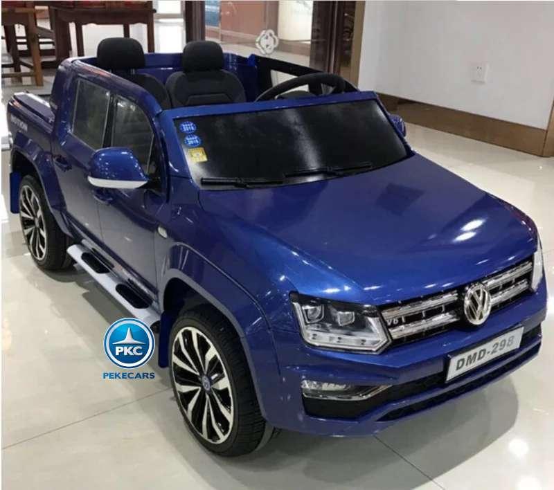 Coche electrico para niños Volkswagen Amarok Azul Metalizado vista principal