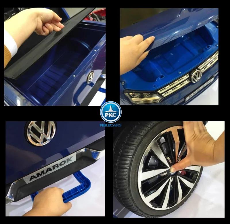 Coche electrico para niños Volkswagen Amarok Azul Metalizado