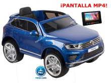 Coche electrico para niños Volkswagen Touareg MP4 Azul Metalizado vista principal