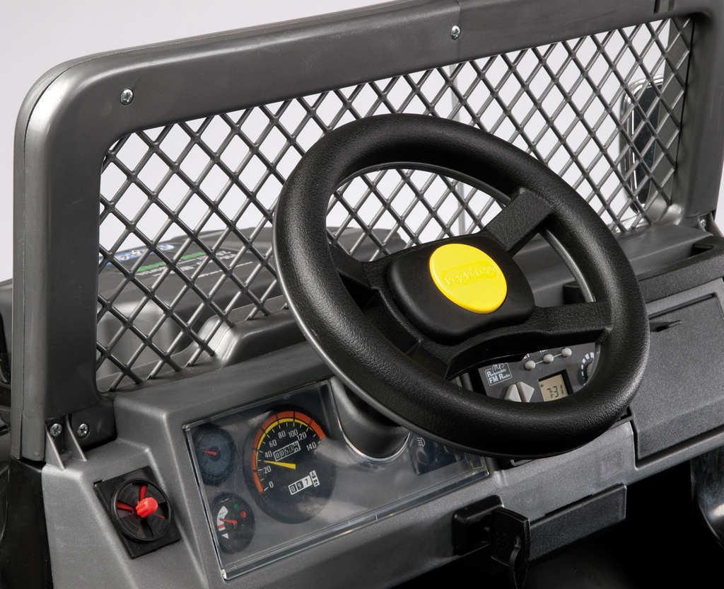 Coche electrico para niños Jeep gaucho superpower 24V volante