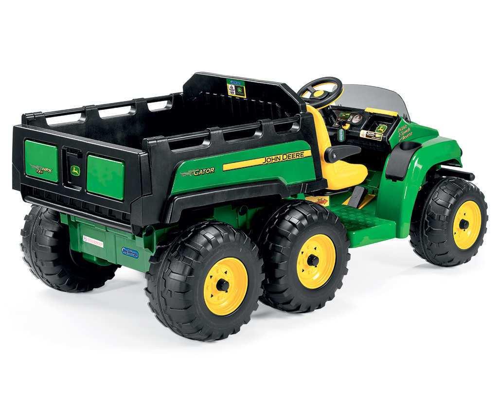 Tractor electrico para niños John Deere Gator HPX 2 plazas con 6 ruedas