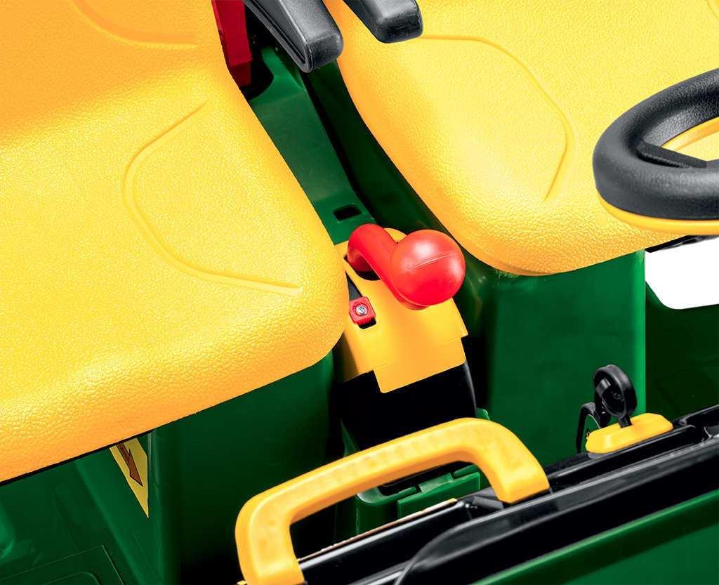 Tractor electrico infantil John Deere Gator HPX 2 plazas limitador de velocidad