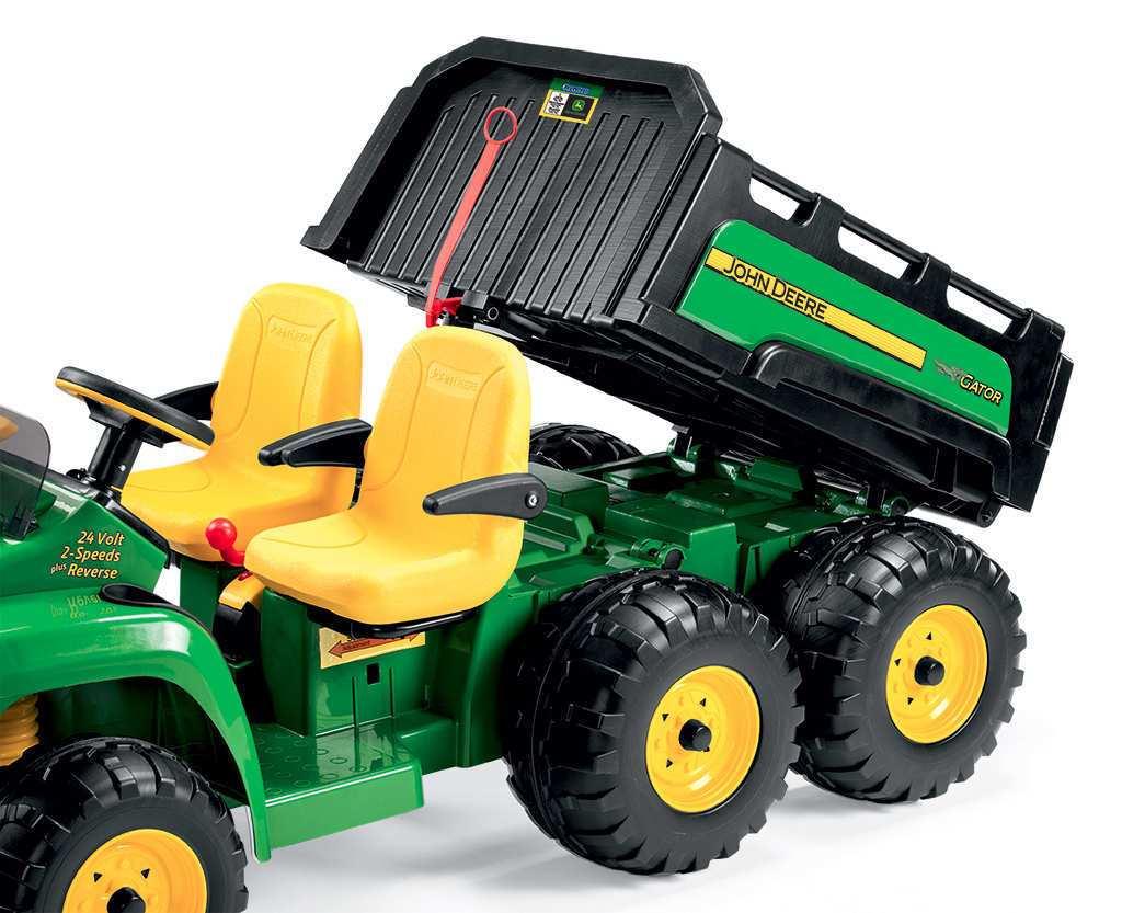 Tractor electrico para niños John Deere Gator HPX 2 plazas con volquete que se eleva