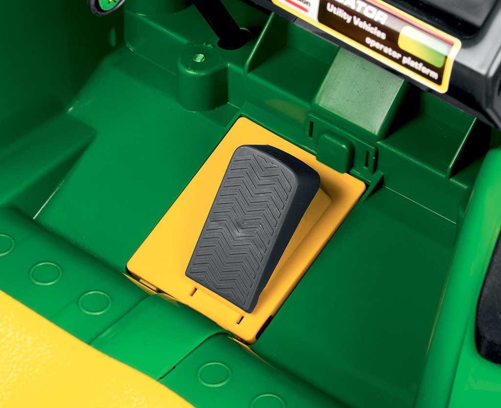 Tractor electrico para niños John Deere Gator HPX 2 plazas pedal acelerador