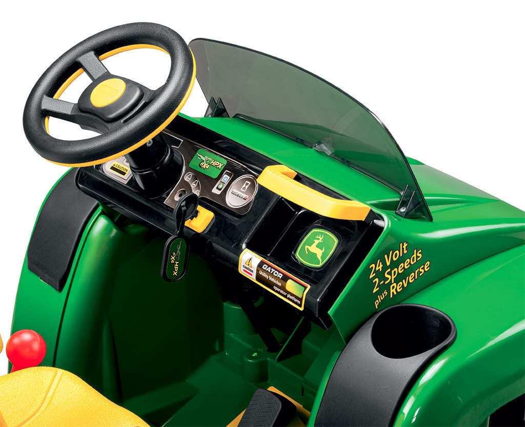 Tractor electrico infantil John Deere Gator HPX 2 plazas con llave de arranque