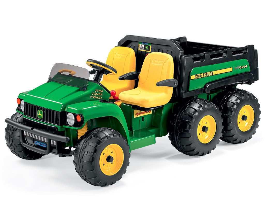 Tractor electrico para niños John Deere Gator HPX 2 plazas