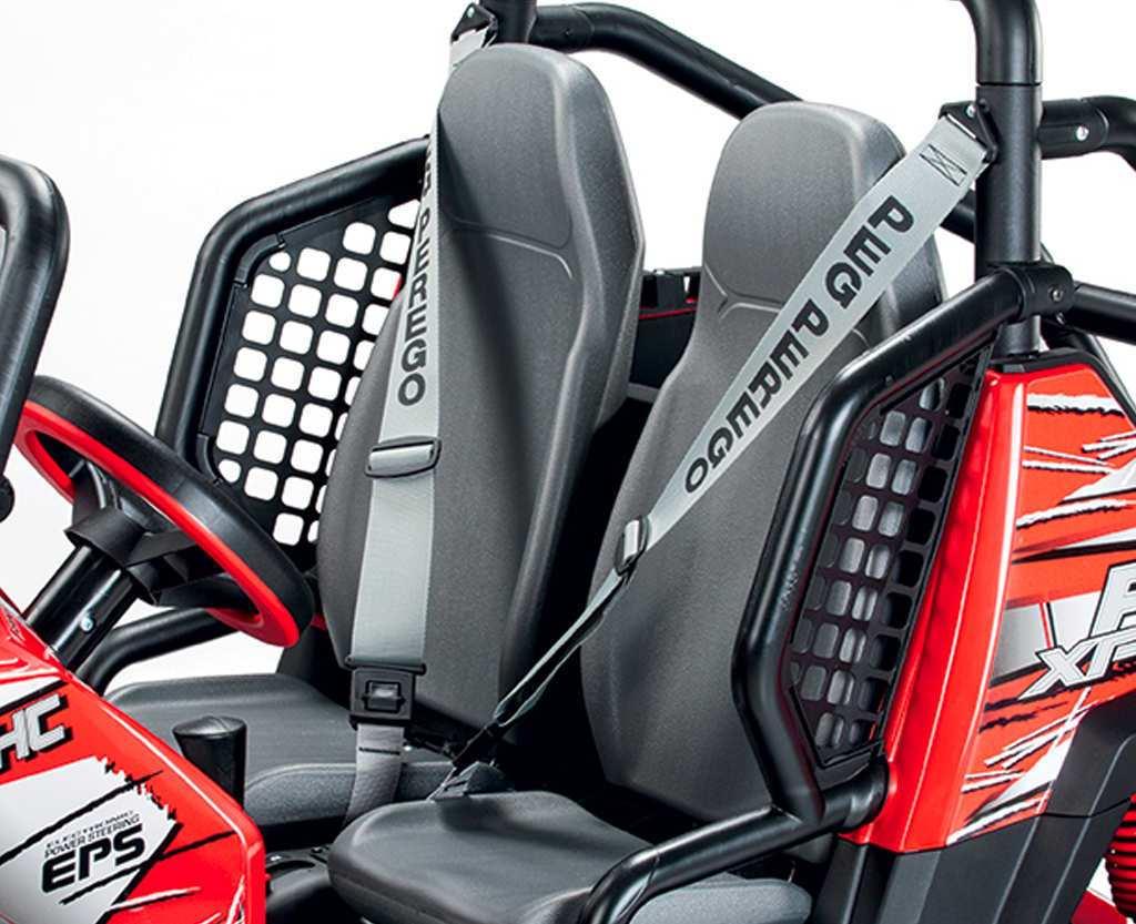 Coche electrico para niños Jeep Polaris Ranger RZR cinturon de seguridad