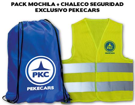 PACK MOCHILA + CHALECO DE SEGURIDAD PEKECARS