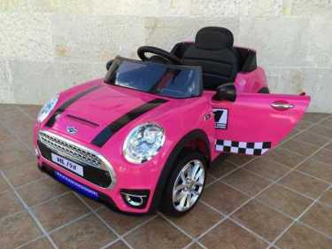 Mini luxe style 12V infantil rosa con rc y mp3 Pekecars