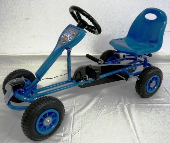 Kart a pedales deportivo azul vista principal