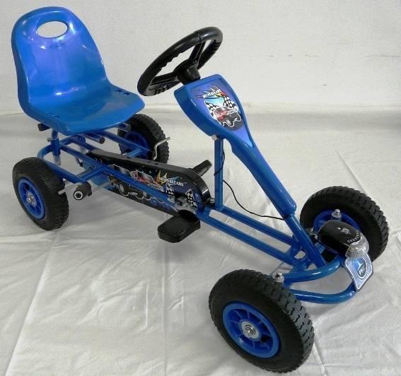 Kart a pedales deportivo azul