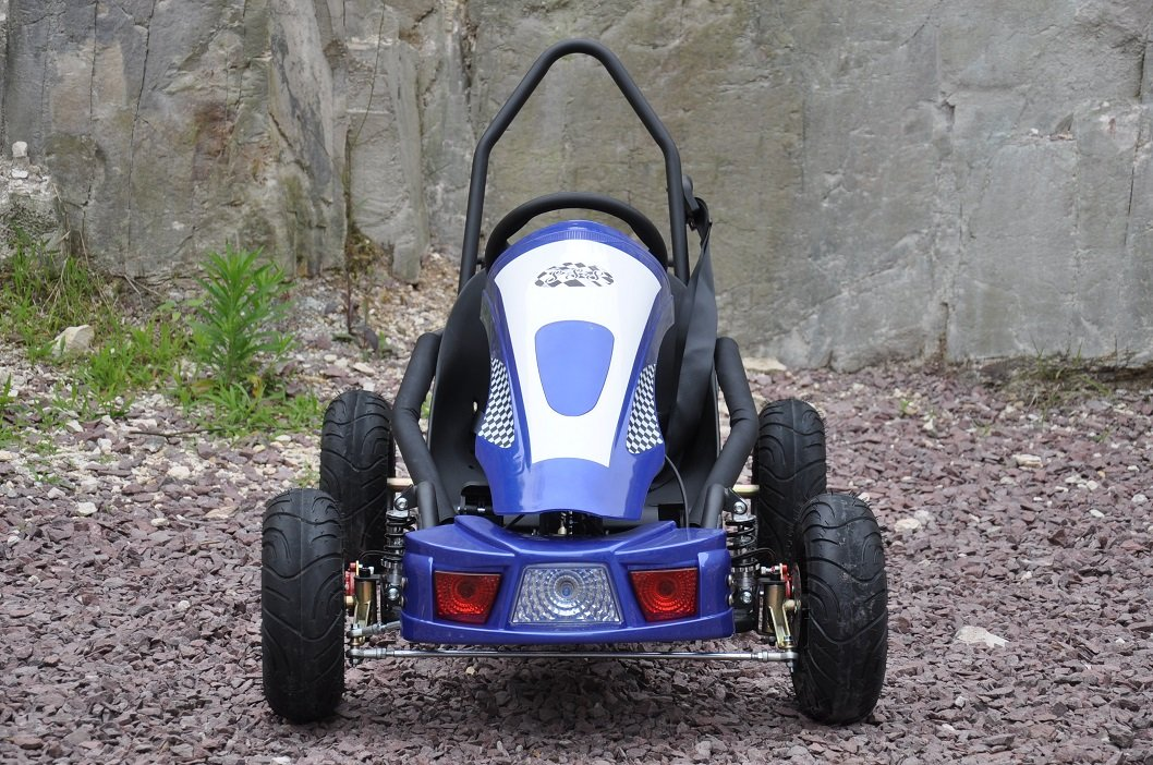 Kart Eléctrico 500W 36V Azul Vista Frontal