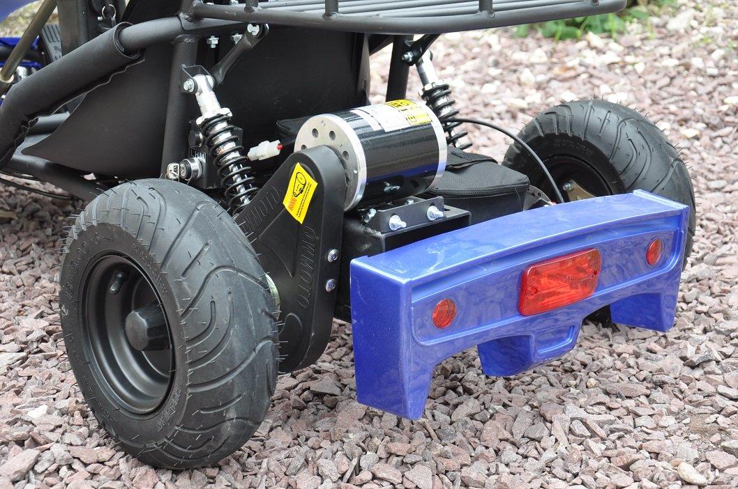 Kart Eléctrico 500W 36V Azul Vista Ruedas