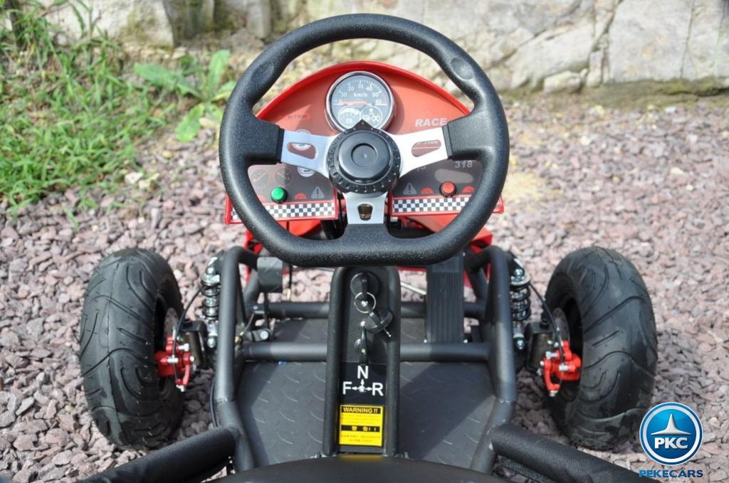 Kart Eléctrico 36V 500W Naranja volante