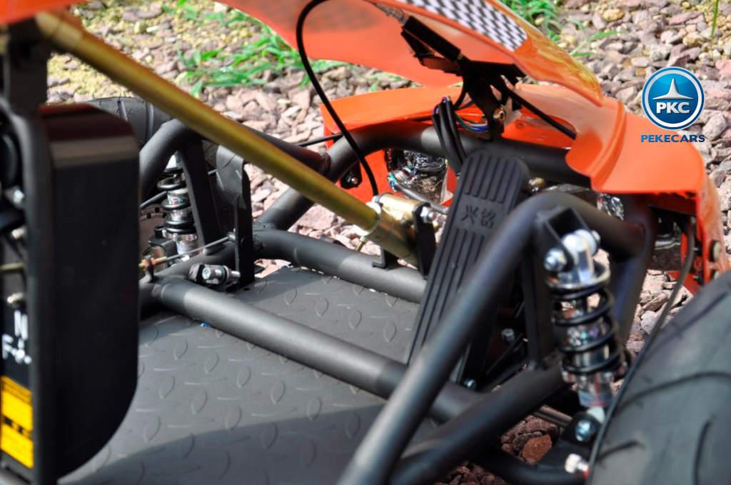 Kart Eléctrico 36V 500W Naranja acelerador