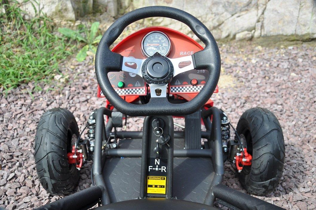 Kart Eléctrico 36V 500W Rojo volante