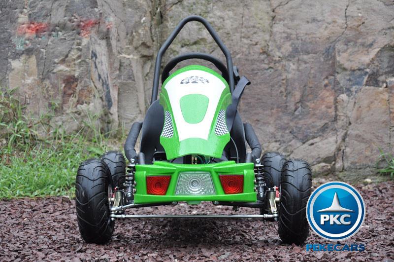 Kart Eléctrico 36V 500W Verde frontal