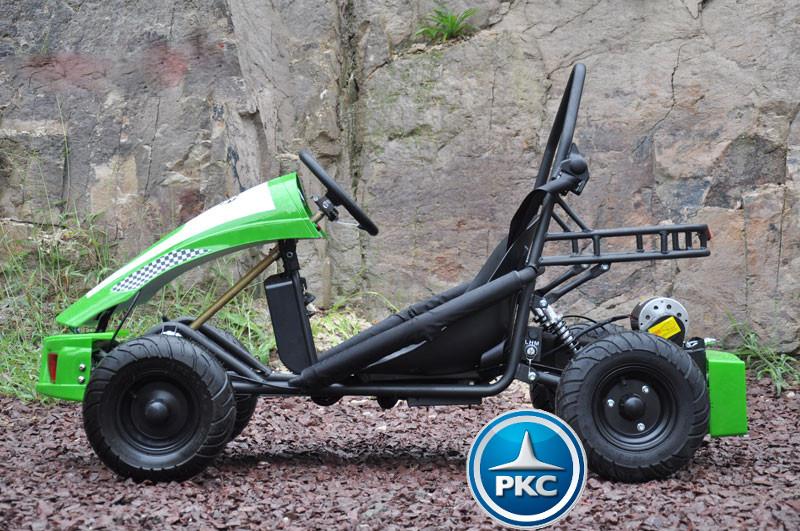 Kart Eléctrico 36V 500W Verde lateral