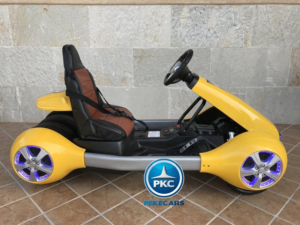 Kart eléctrico para niños FC-8818 Amarillo lateral