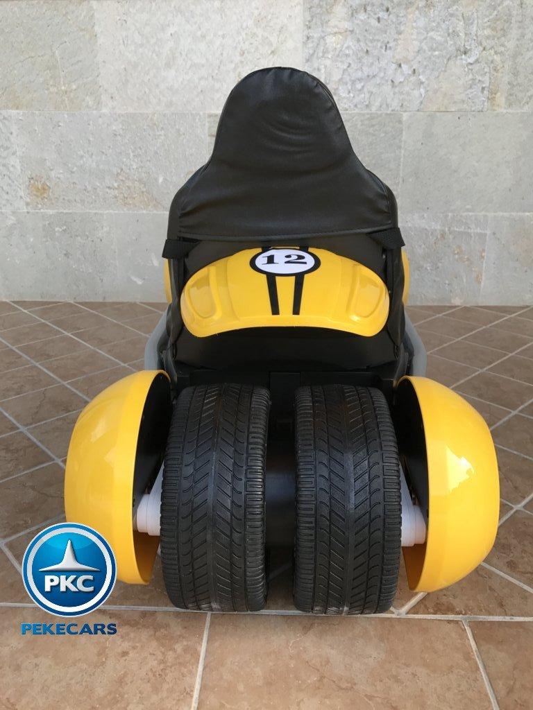 Kart eléctrico infantil FC-8818 Amarillo vista trasera