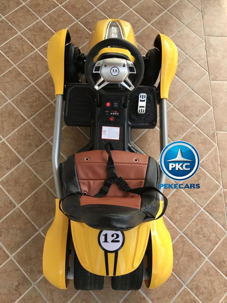 Kart eléctrico infantil FC-8818 Amarillo desde arriba