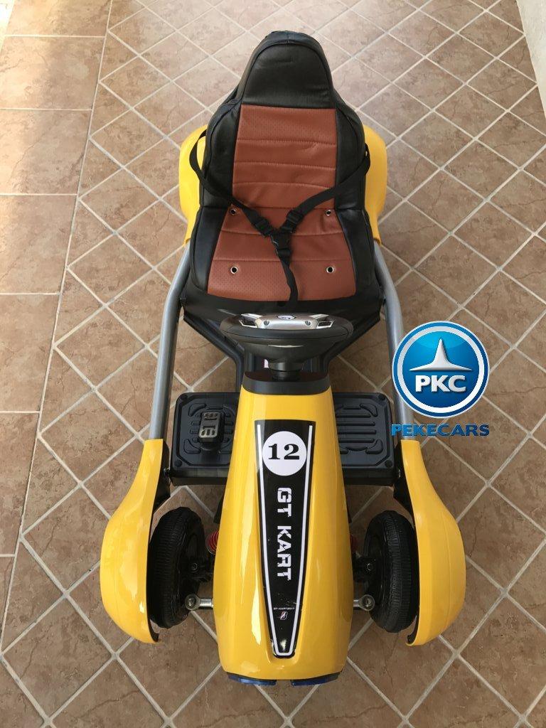 Kart eléctrico para niños FC-8818 Amarillo de frente