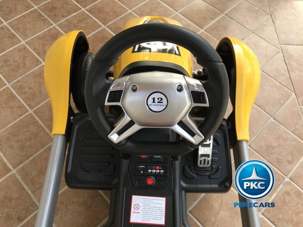 Kart eléctrico infantil FC-8818 Amarillo volante