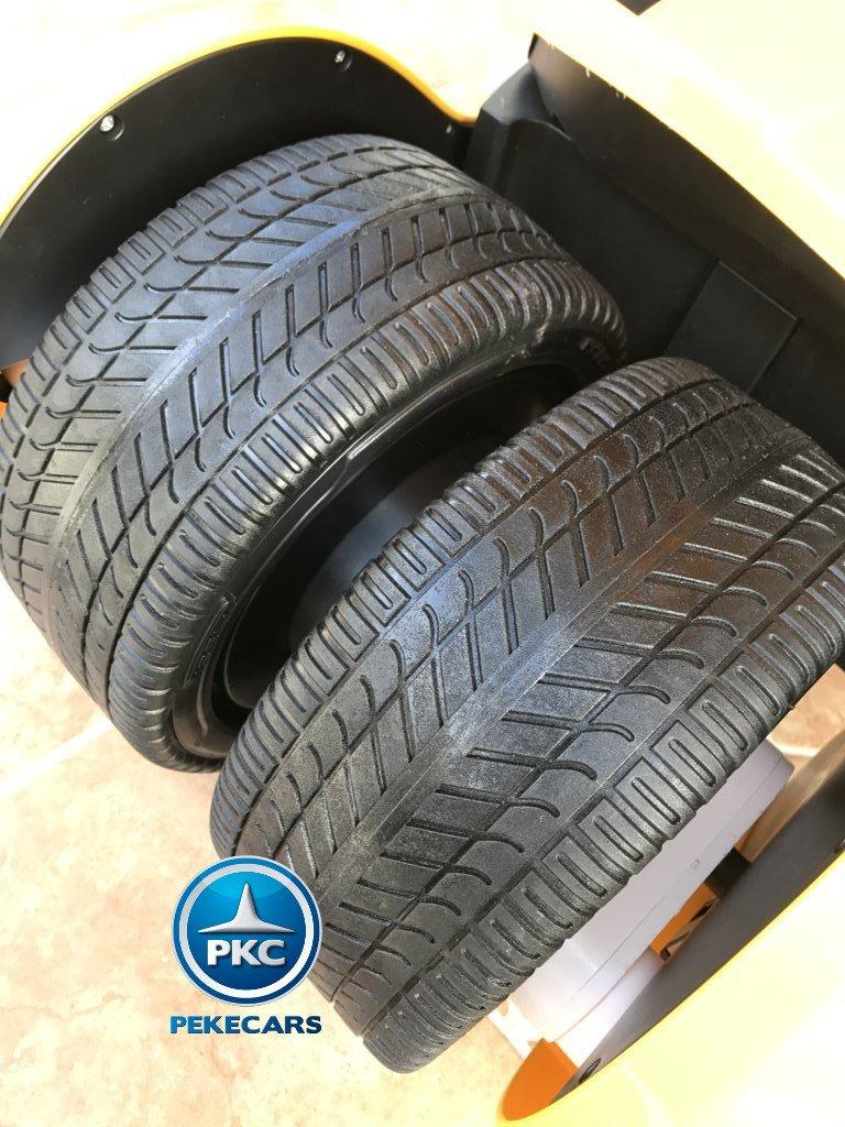 Kart eléctrico para niños FC-8818 Amarillo ruedas de caucho traseras