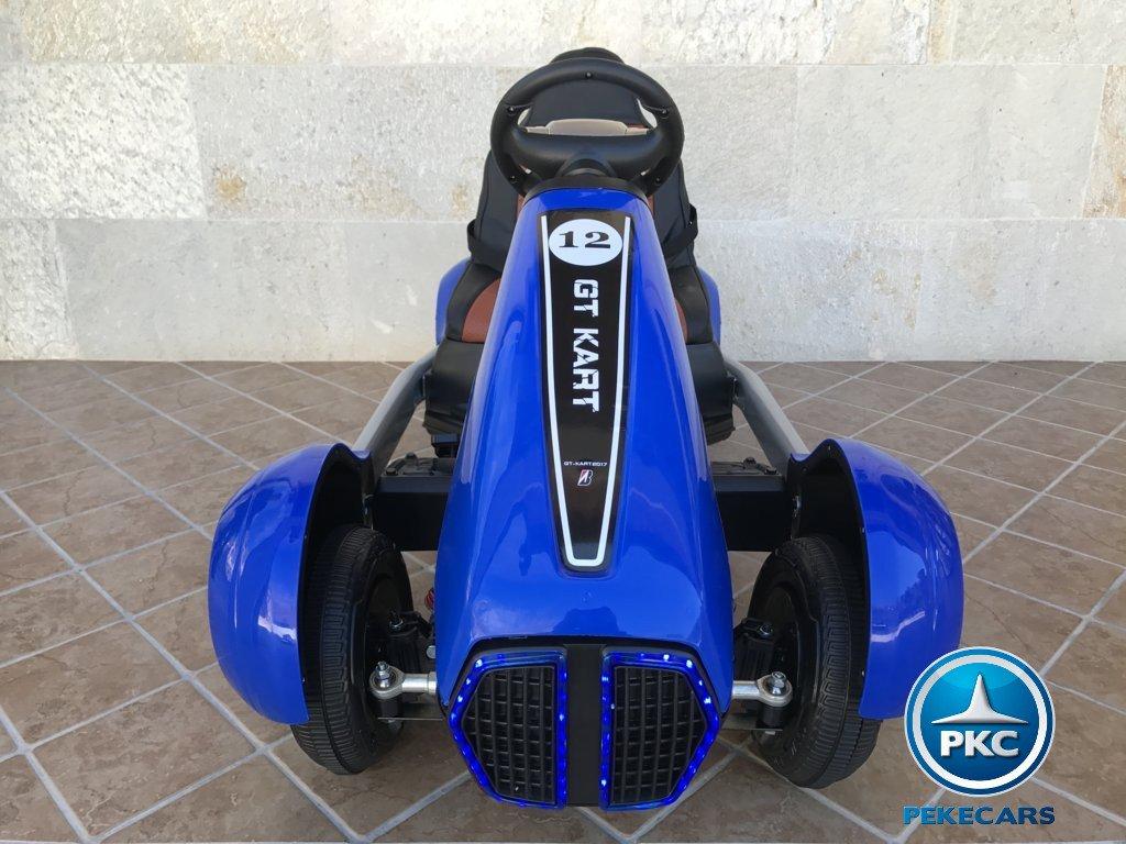 Kart eléctrico infantil FC-8818 Azul vista frontal