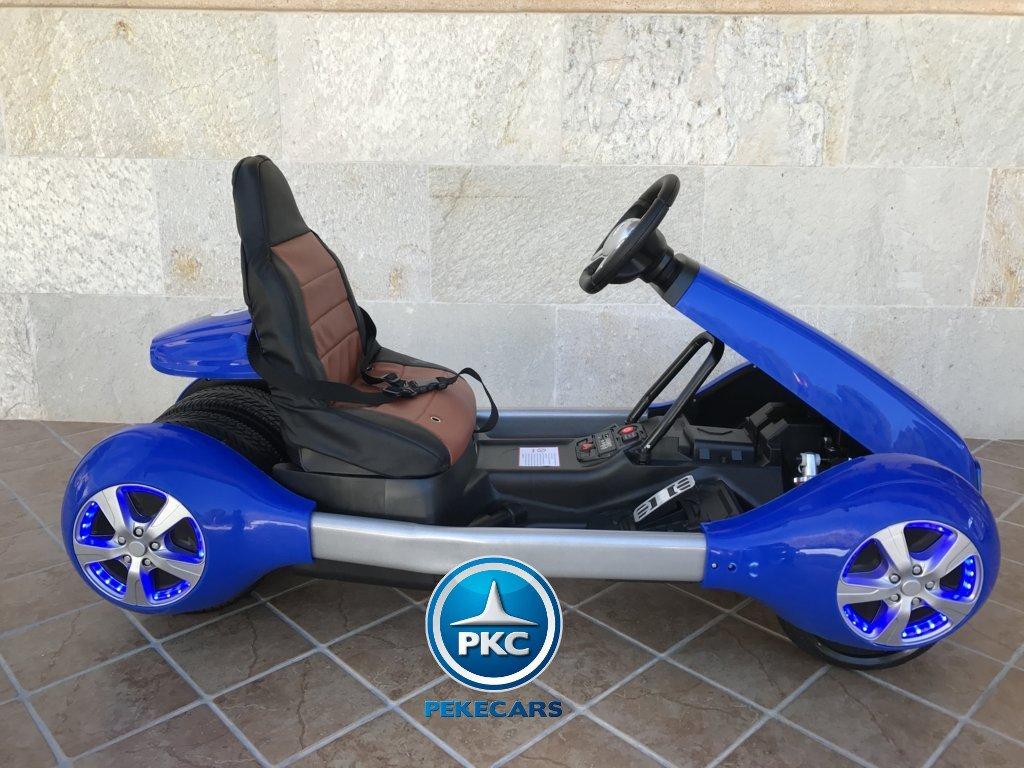 Kart eléctrico infantil FC-8818 Azul lateral