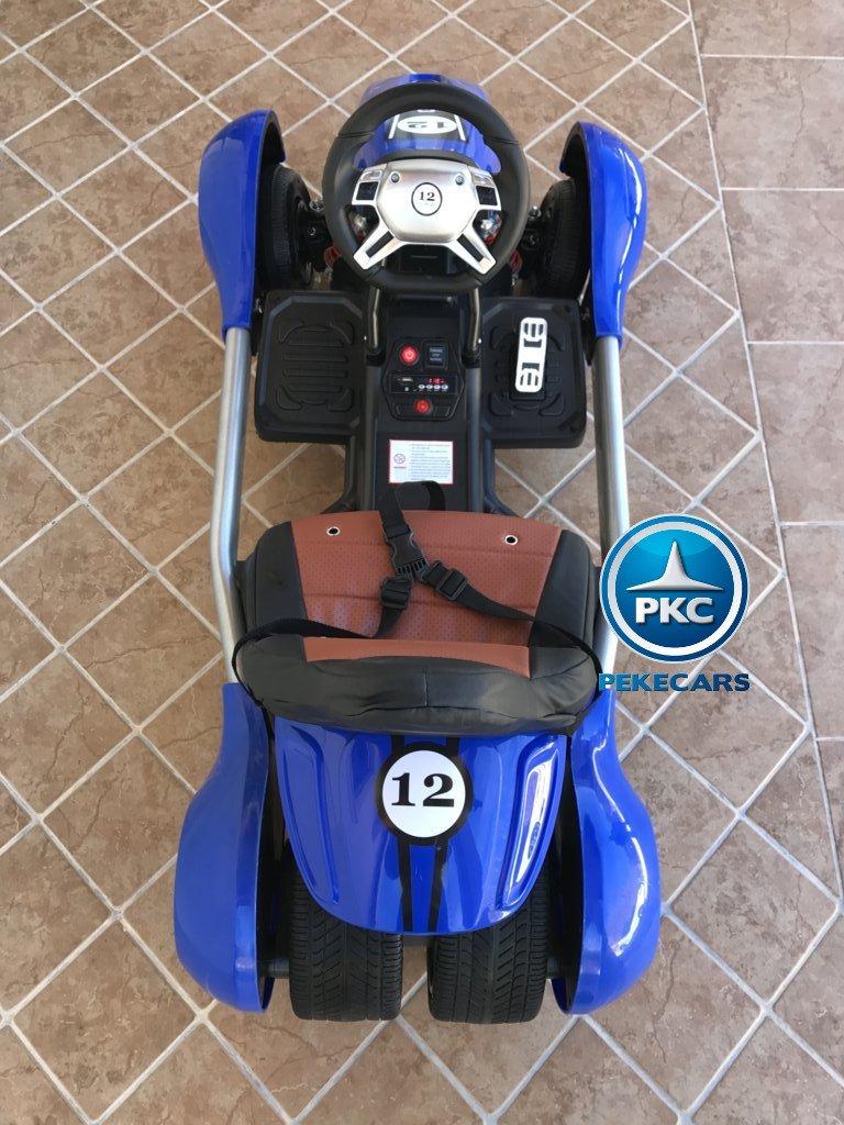 Kart eléctrico para niños FC-8818 Azul desde arriba
