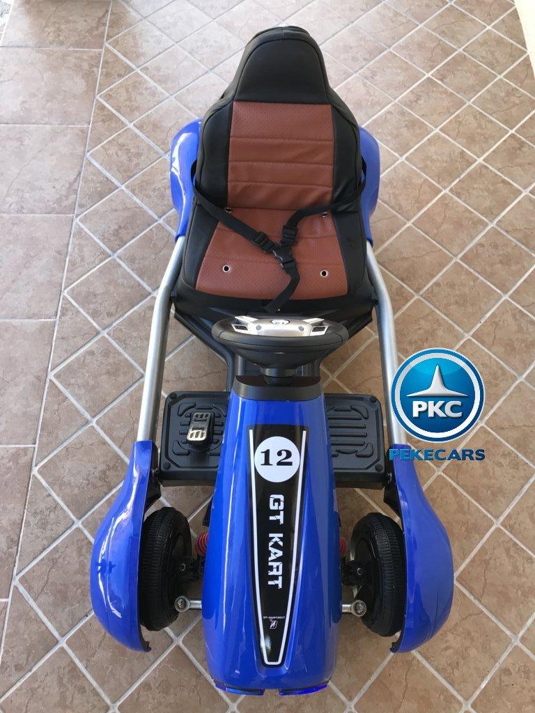 Kart eléctrico infantil FC-8818 Azul de frente