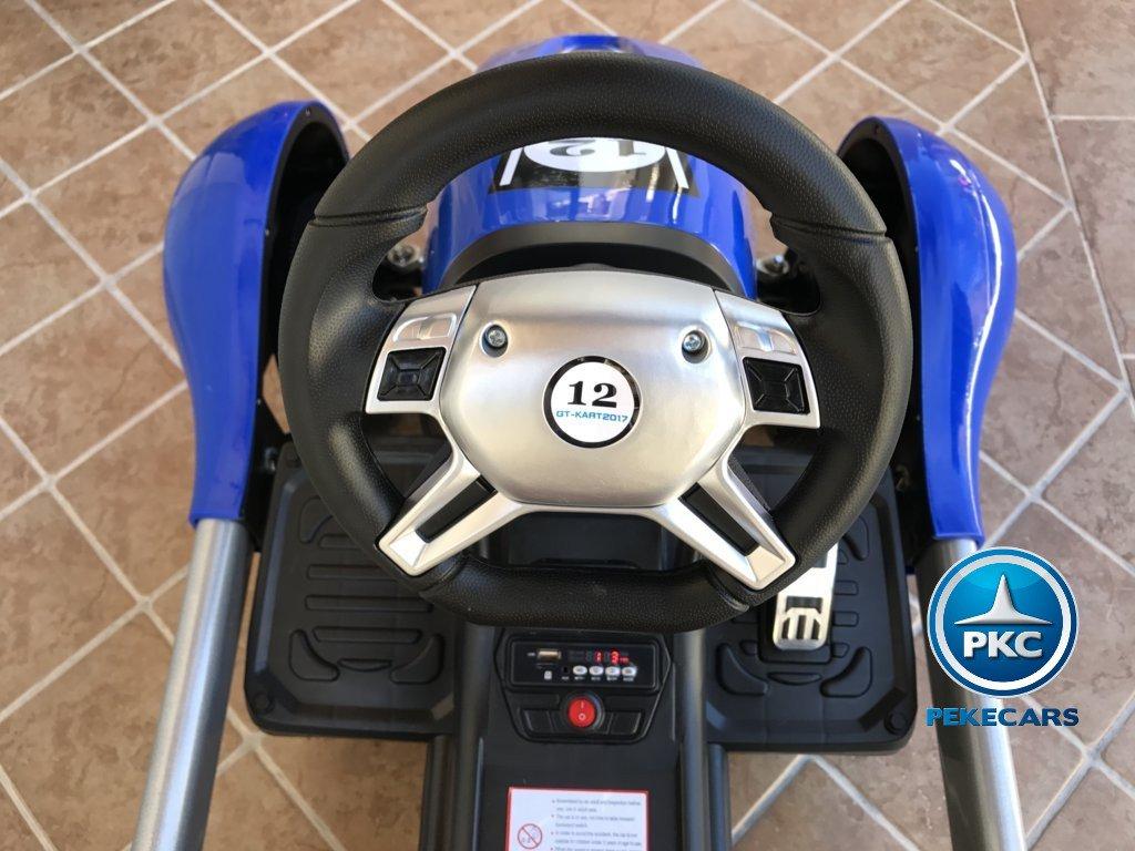 Kart eléctrico para niños FC-8818 Azul volante