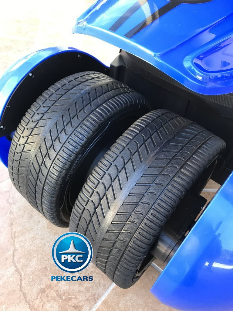 Kart eléctrico infantil FC-8818 Azul ruedas de caucho traseras