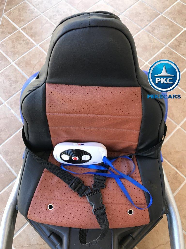 Kart eléctrico para niños FC-8818 Azul asiento acolchado