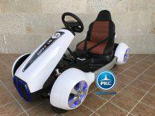 Kart eléctrico para niños FC-8818 Blanco vista principal