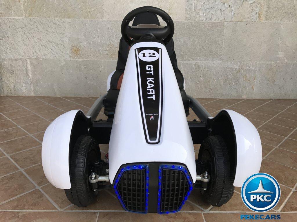Kart eléctrico infantil FC-8818 Blanco vista frontal