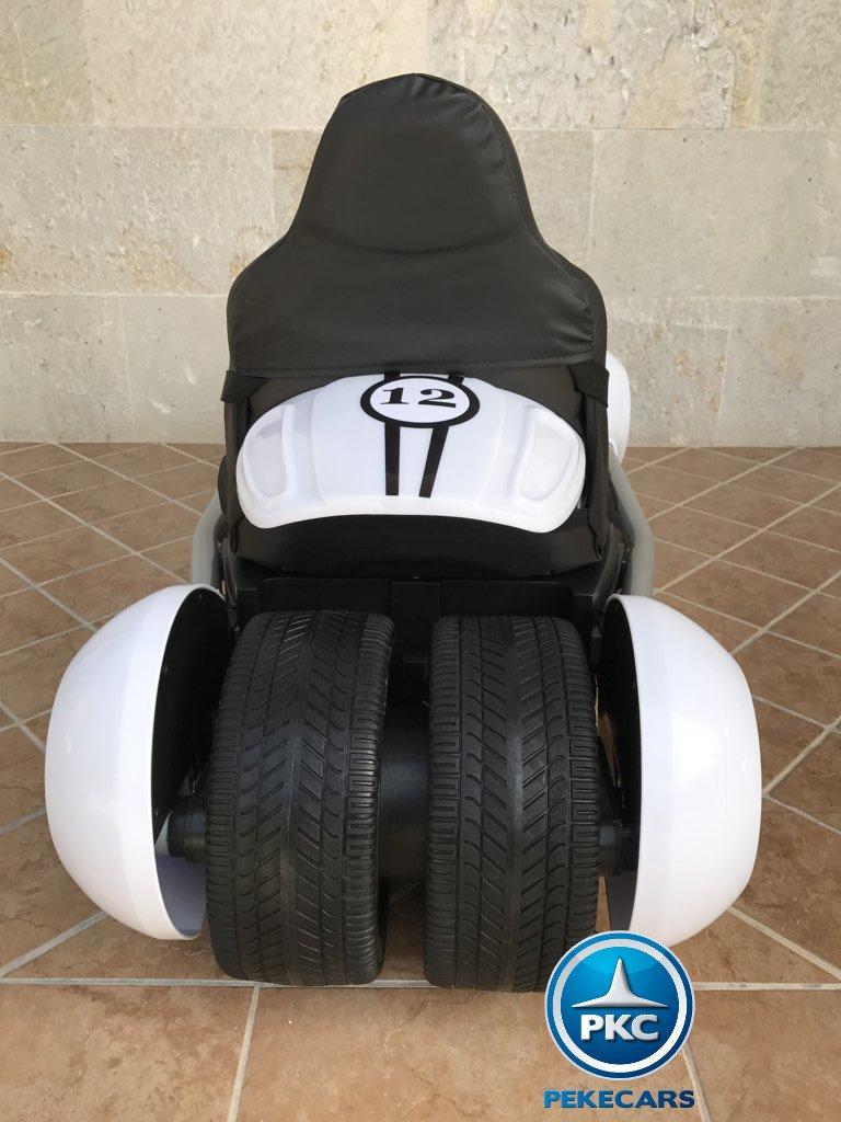 Kart eléctrico para niños FC-8818 Blanco vista trasera