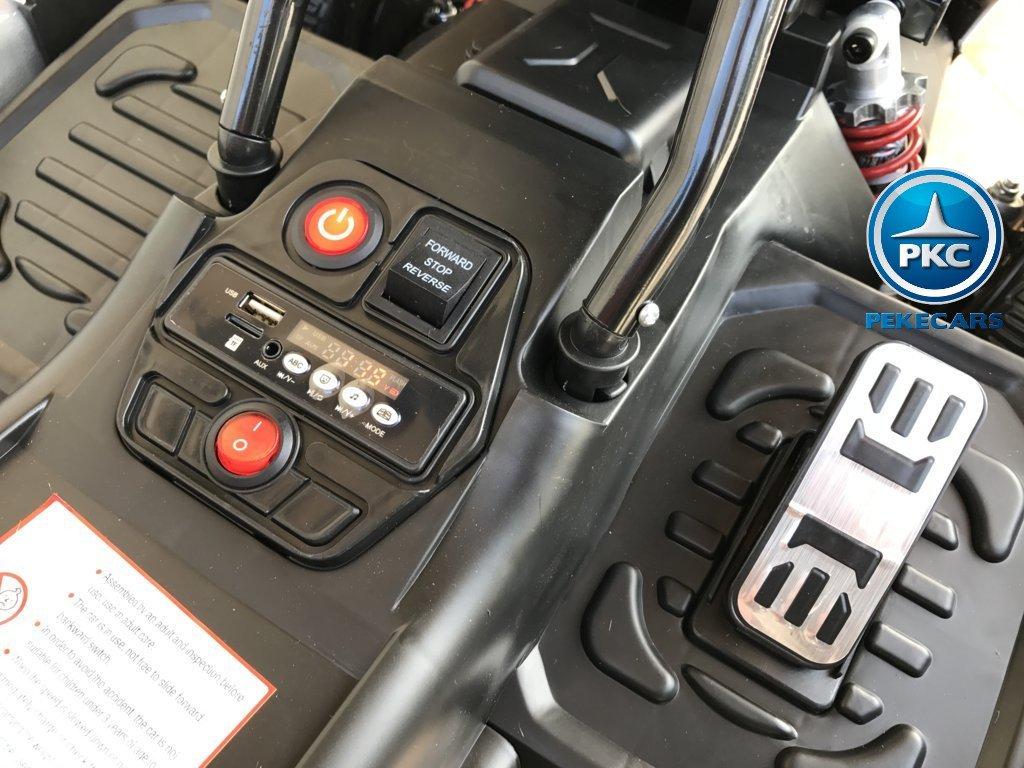 Kart eléctrico para niños FC-8818 Blanco conexión USB