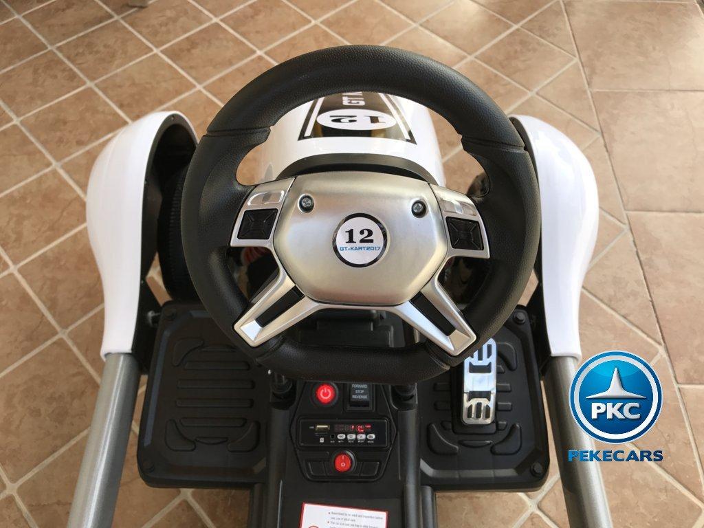 Kart eléctrico infantil FC-8818 Blanco volante