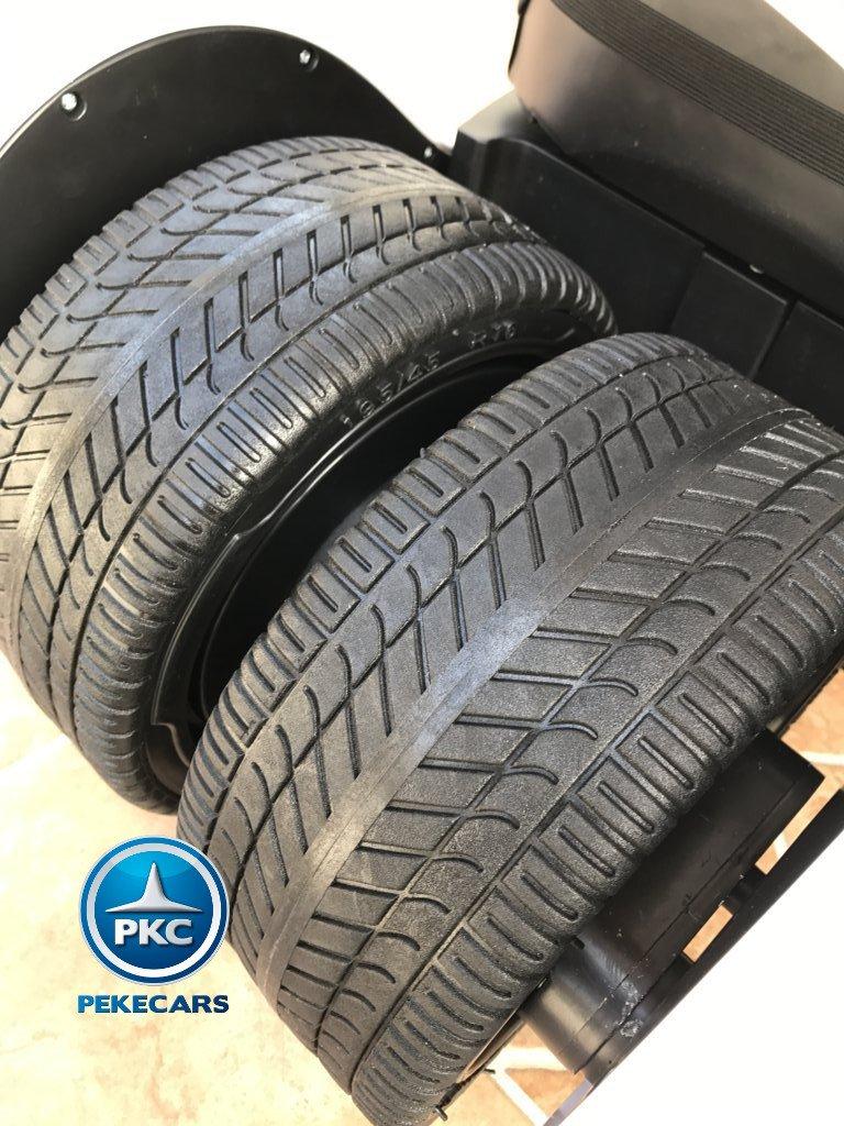 Kart eléctrico para niños FC-8818 Blanco ruedas traseras de caucho