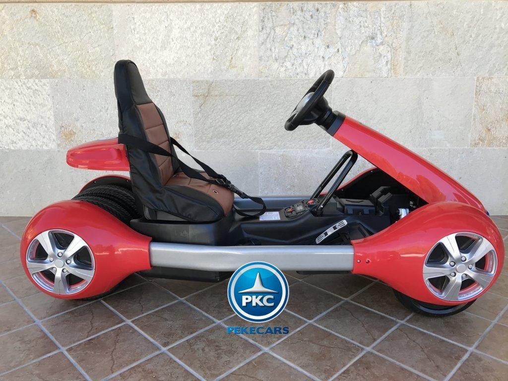 Kart eléctrico infantil FC-8818 Rojo lateral