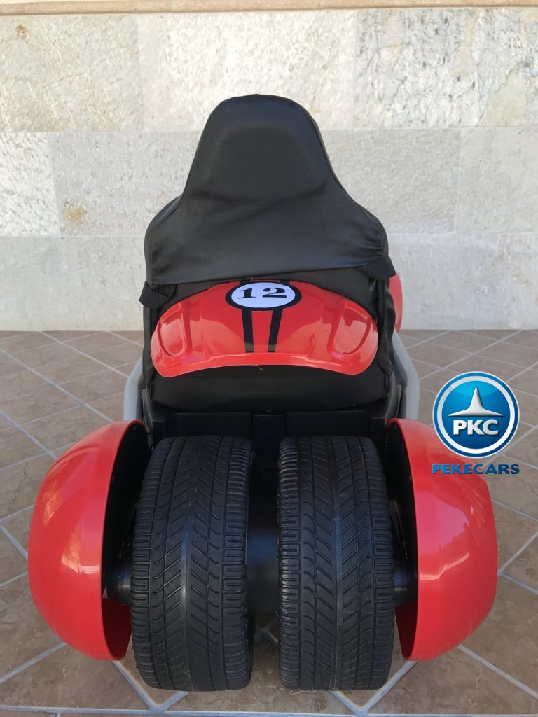 Kart eléctrico para niños FC-8818 Rojo vista trasera
