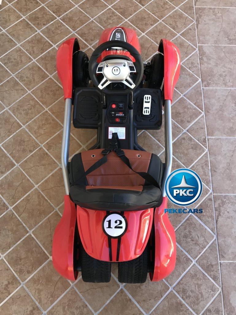 Kart eléctrico para niños FC-8818 Rojo visto desde arriba