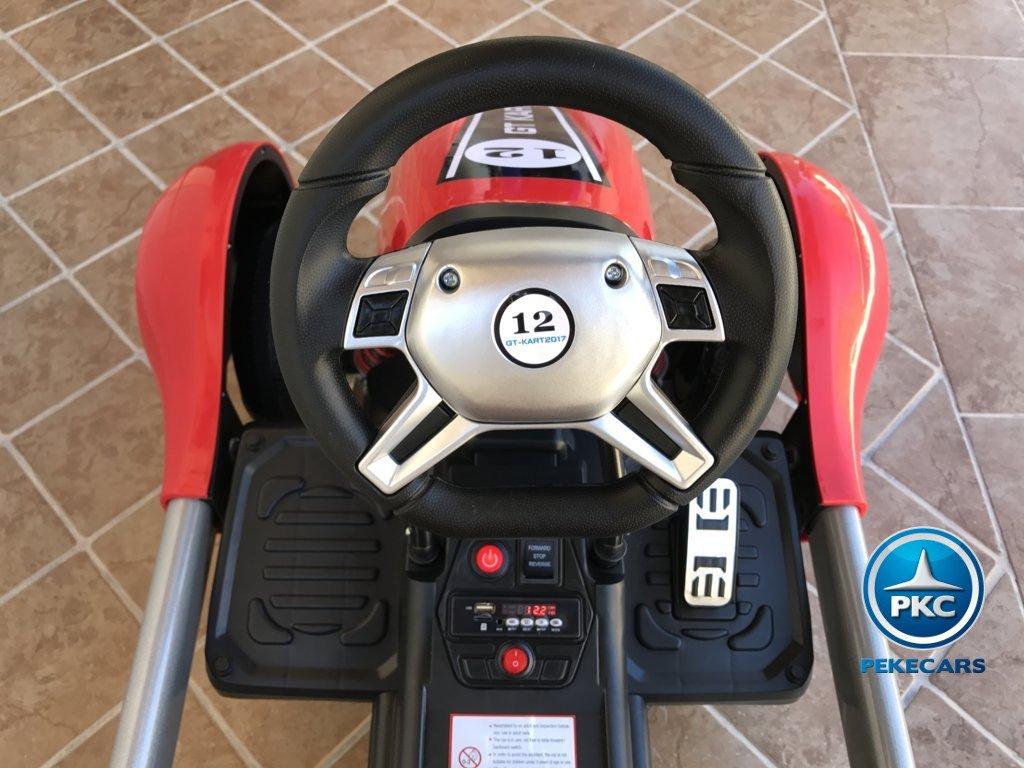 Kart eléctrico infantil FC-8818 Rojo volante