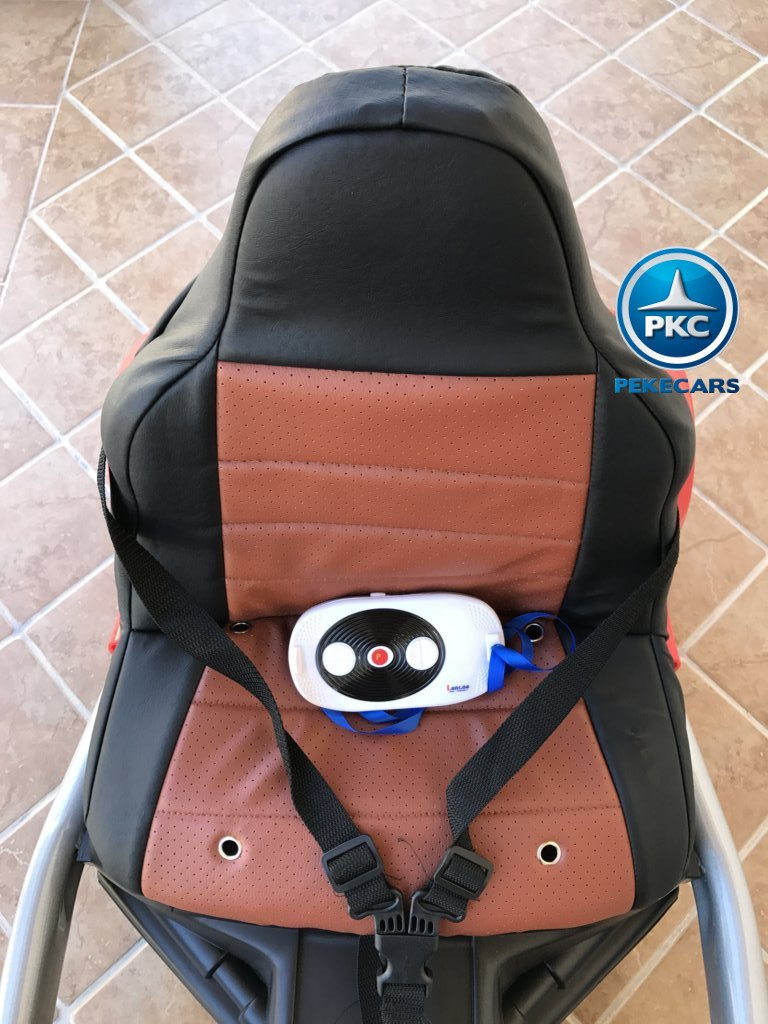 Kart eléctrico para niños FC-8818 Rojo asiento acolchado