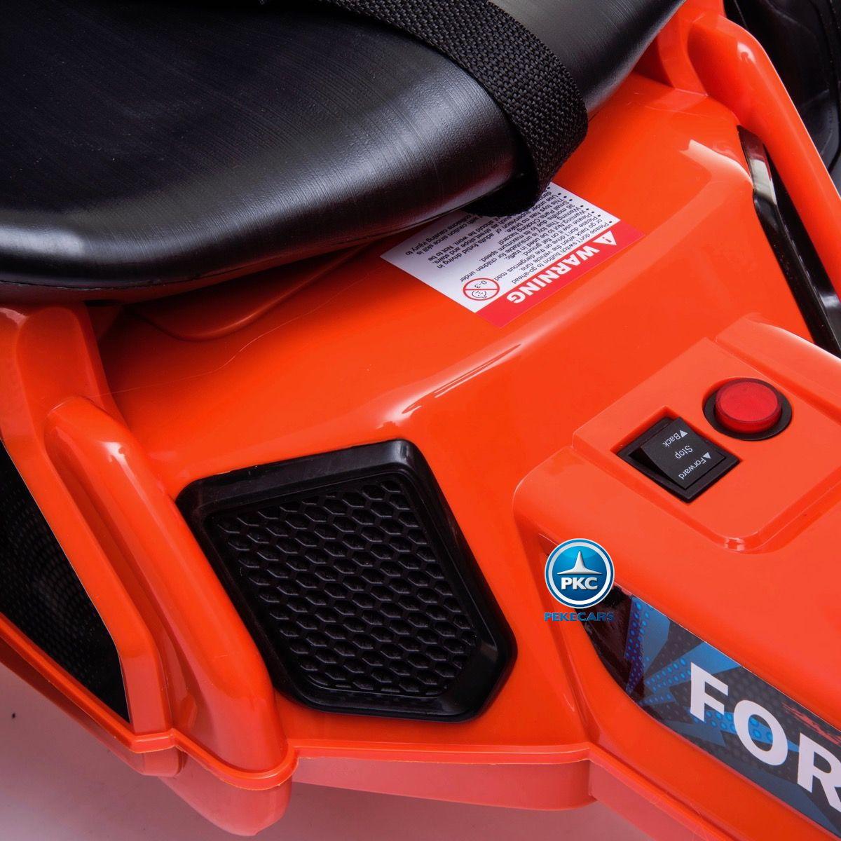 Kart electrico ford ranger naranja