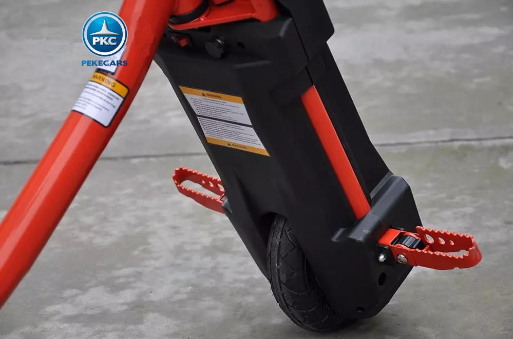 Kart eléctrico Power Drift Trike 12V Rojo con rueda neumatica
