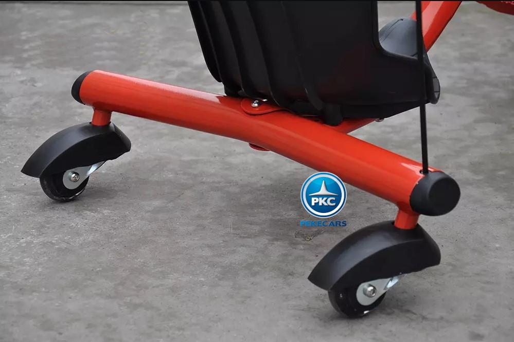 Kart eléctrico Power Drift Trike 12V Rojo ruedines traseros